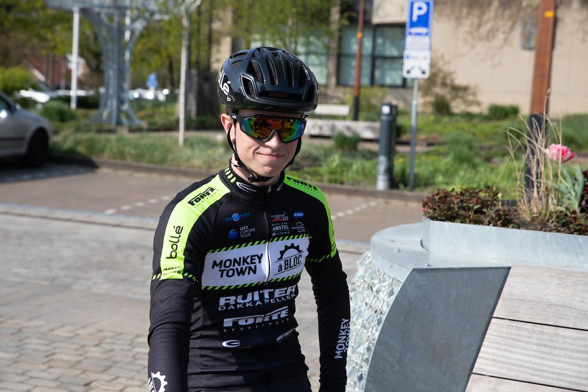 TWENTERAND (NED) wielrennen Verkenning van een nieuw stuk parcours Rick Pluimers